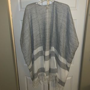 Long sweater poncho type cardigan